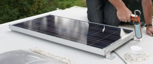RV Solar Panel Installation