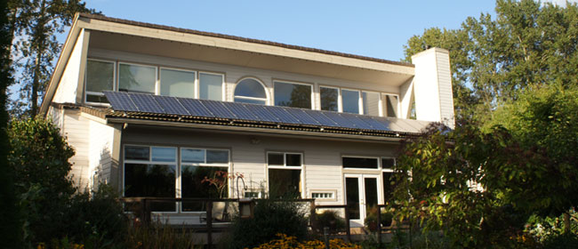 What is a passive solar home?