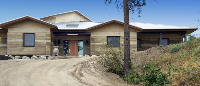 Rammed Earth Home, Summerland, BC