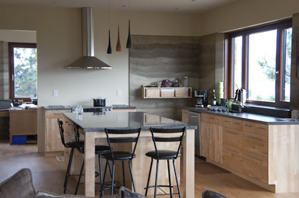 Rammed Earth Kitchen