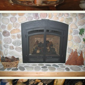log-home-light-fireplace-counter