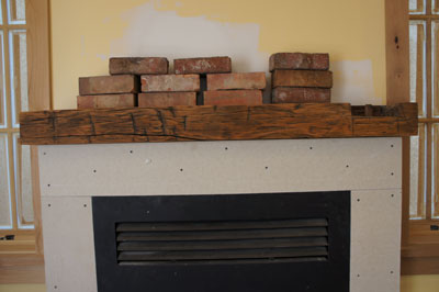 Re purposed mantle and bricks