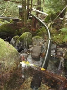 micro hydro intake in Swift Creek