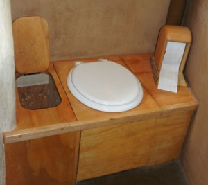 cob home composting toilet