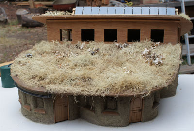 model of cob home